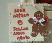 FESTONE GHIRLANDA FUORIPORTA ADDOBBO NATALE ESTERNO E INTERNO gingerbread grande