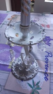 Candelabri vintage con cristalli