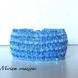 Bracciale style capricho con cristalli azzuri
