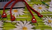 coppia di manci vernice rosso cm 64con anello finale