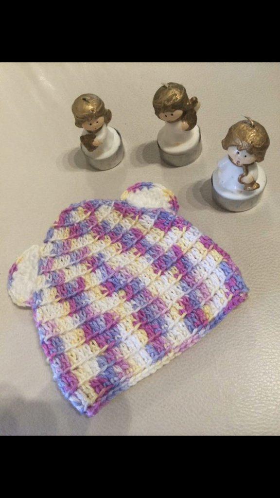 Cuffietta caldo cotone neonata