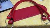 fondo ovale 12x36 con manici lunghi cm64  rosso