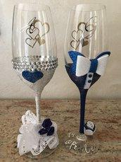 Calici personalizzati sposi