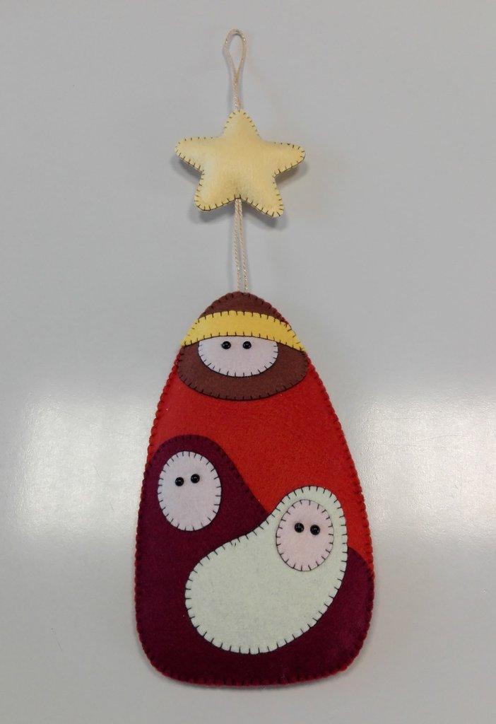 Preferenza PRESEPE DA APPENDERE TONI MARRONI - Feste - Natale - di Lilli Lab  HZ95