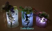 Lanterne decorate con sagome di fatine. Idea regalo semplice ma sfiziosa!