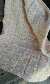 Copertina baby misto lana nuova fatta a mano 5