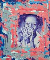 A COLOR LIFE Dipinto con acrilici. Ritrattcon penna Bic