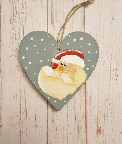 Cuore natalizio con Babbo Natale