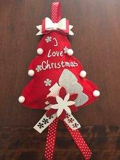 Albero di Natale in pannolenci e gomma crepla