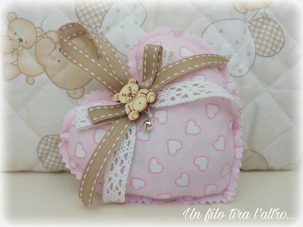 Cuore rosa stoffa