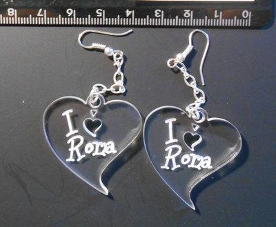 (192) - coppia ciondoli cuore I LOVE ROMA