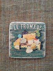"""set 6 sottobicchieri """" Le Fromage """""""