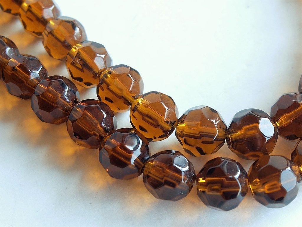 Perle Cristallo sfaccettate   PRL6N