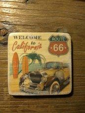 """set 6 sottobicchieri """"Route 66"""""""