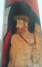 Eracle con clava e pelle di leone sulle spalle