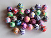 Perle polimero fiori    PRL8N