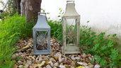 Romanticissime lanterne ferro vintage, recupero, riciclo, restyling, shabby