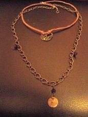 collana cigno bronzo