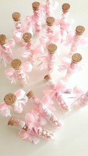 Provetta di confetti nascita o battesimo - bomboniere originali - bomboniera in vetro - bomboniere battesimo - bomboniere comunione - comunione - cresima - provette vetro