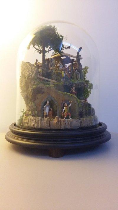 Presepe in campana di vetro