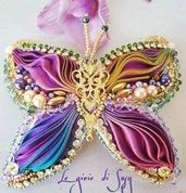 Collier farfalla in seta
