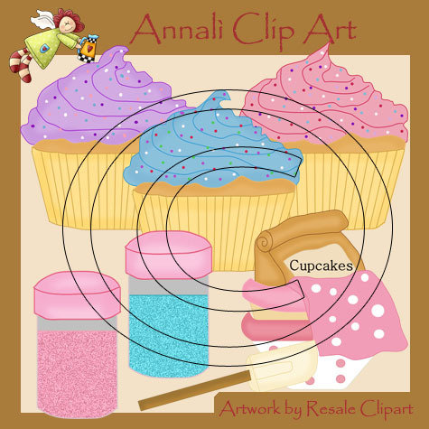 Clip Art per Scrapbooking e Decoupage - Dolcetti Sweet Cake - IMMAGINI