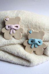 bomboniera in fimo a forma di orsetto bomboniera teddy bear bomboniera in fimo con calamita