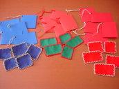 Bigliettini chiudipacco con aida realizzati a mano