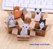 Sticky note adesivi in carta Kitty House (^-^)