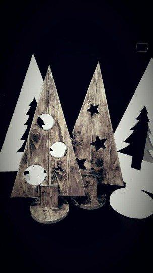 Alberelli di natale in legno