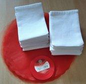 Inserzione riservata n. 25 sacchetti per confetti da ricamare a punto croce