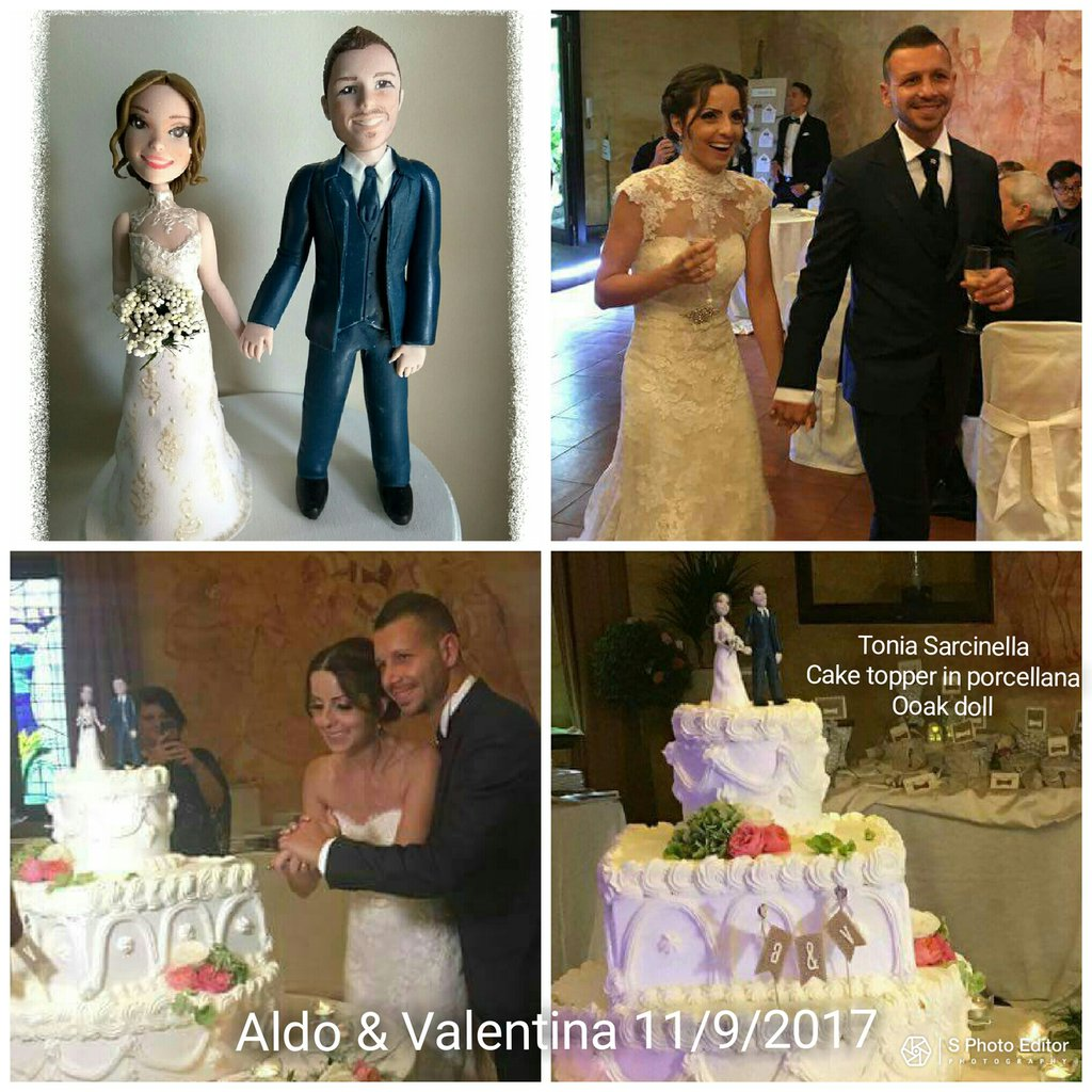 Cake topper personalizzati caricature sposi