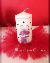 Candele decorate personalizzate- bomboniere