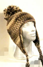 cappello in lana merino con paraorecchie unisex