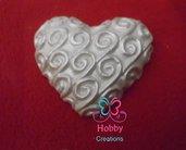 *50*Gessetti colore bianco profumati a forma di CUORE MOD. 1 PERLATO per bomboniera Cresima, Battesimo, Comunione, Matrimonio, Natale – Idea Regalo