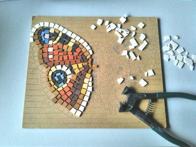 Kit mosaico fai da te farfalla materiali materiali for Mosaico fai da te