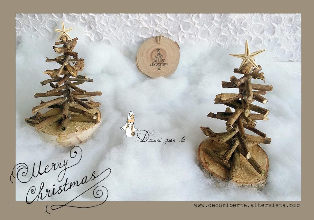 Decorazioni In Legno Per Albero Di Natale : Alberi di natale in legno naturale feste natale di decori pe