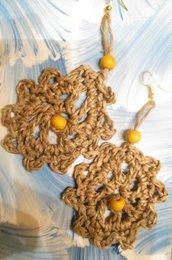 ORECCHINI FOGLIA D'AUTUNNO perle gialle