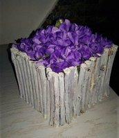 Porta fiori in legno