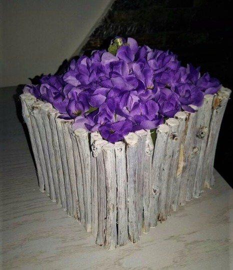 Porta fiori in legno - Per la casa e per te - Decorare ...