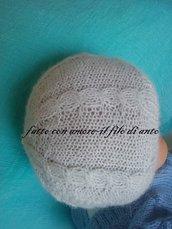 Cappello bambino in lana alpaca 100%