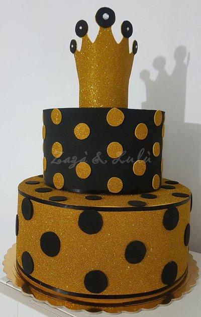 Torta Finta Polistirolo Compleanno Party Queen Bimbo Bimba Decorazioni Feste