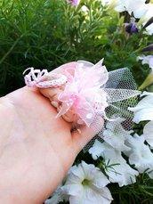bebè fimo in rosa  e bianco puà