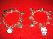 BRACCIALETTI CHARMS CON HELLO KITTY