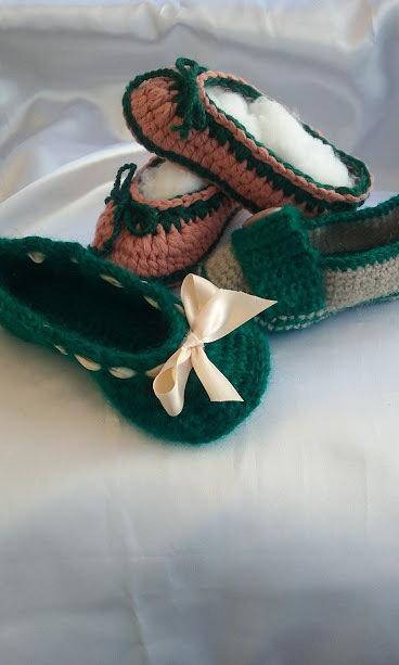 scarpette lana uncinetto antiscivolo