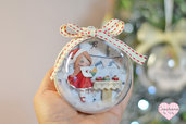 Pallina di Natale con dolls e bakery