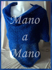 Stola baby alpaca - Blu reale