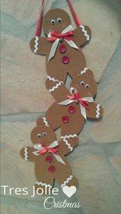 ghirlanda fuoriporta decorazioni natalizie gingerbread omino pandizenzero porta