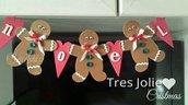 ghirlanda fuoriporta decorazioni natalizie gingerbread omino pan dizenzero porta