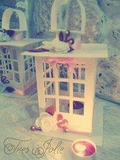 lanterna feltro  natale centrotavola decorazioni addobbi shabby idea regalo